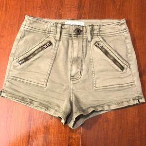 NAVY GREEN ABERCROMBIE HIGH RISE SHORTS [NWOT]
